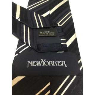 ニューヨーカー(NEWYORKER)のNEWYORKER(ニューヨーカー)    ネイビーレジメンタルネクタイ(ネクタイ)