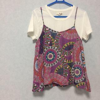 チチカカ(titicaca)のチチカカ titicaca エスニック Tシャツ キャミソール セットアップ(Tシャツ(半袖/袖なし))