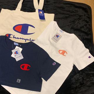 チャンピオン(Champion)の新品ChampionレディースTシャツとトートバッグセット(Tシャツ(半袖/袖なし))