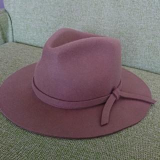 ユニクロ(UNIQLO)のユニクロUNIQLOフェルト ハット 帽子茶色ブラウン(ハット)