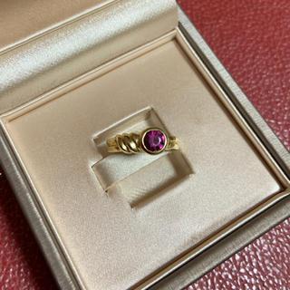 ティファニー(Tiffany & Co.)のティファニー K18 YG ガーネットリング(リング(指輪))