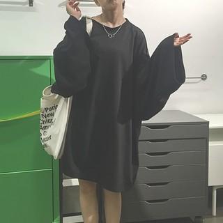 アンティカ(antiqua)の【新品未使用】ビッグサイズTシャツ ロングトップス 原宿系 ストリート系 ワンピ(ミニワンピース)