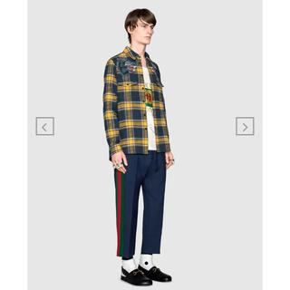 グッチ(Gucci)のGUCCI ウールクロップドパンツ ジャージ スラックス ¥124,200 正規(スラックス)