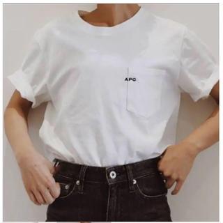 アーペーセー(A.P.C)の新品、未使用  A.P.C ロゴ刺繍Tシャツ(Tシャツ/カットソー(半袖/袖なし))