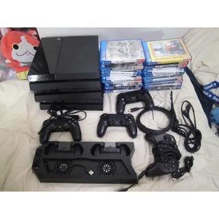 PlayStation4 - プレステ4 本体 3台 コントローラー 4個 コード類 ソフト 23本 大量