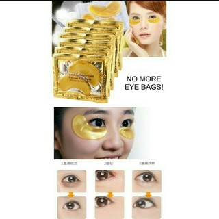 絶対お薦め♪ゴールドコラーゲンアイマスク!ホウレイセンにも💕10セット(パック / フェイスマスク)