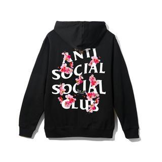 アンチ(ANTI)のAnti SocialSocial Club Kkoch Black Hoody(パーカー)