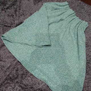ダブルクローゼット(w closet)のダブルクローゼット スカート 青緑(ひざ丈スカート)