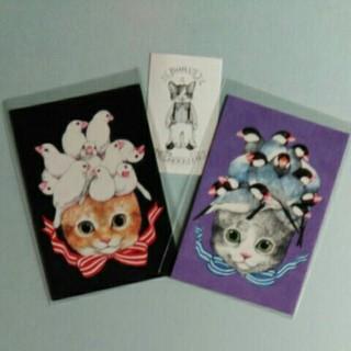 ヒグチユウコ ポストカード ネコと鳥 ひとつめちゃん ボリス雑貨店(写真/ポストカード)