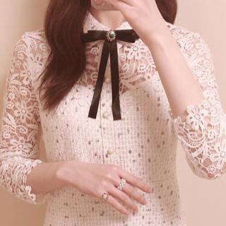 スナイデル(snidel)のlace tweed dress ♡(ミニワンピース)