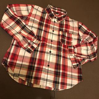 コムサイズム(COMME CA ISM)のコムサイズム/120Aチェックシャツ(Tシャツ/カットソー)