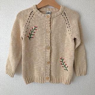 BONTON2018ss刺繍カーデ♡4y美品