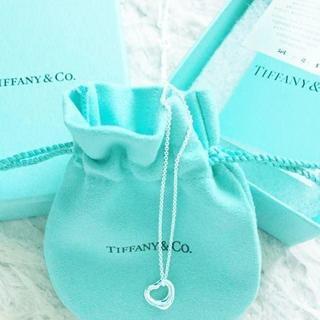 ティファニー(Tiffany & Co.)の未使用 ティファニー オープンハートネックレス 11mm(ネックレス)
