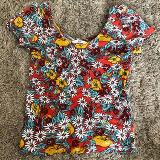 スライ(SLY)の美品 SLY スライ花柄 Tシャツ(Tシャツ(半袖/袖なし))