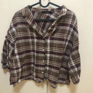ダブルクローゼット(w closet)のw closet チェックシャツ(シャツ/ブラウス(長袖/七分))