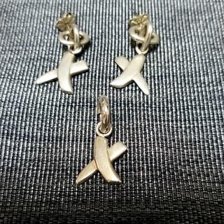ティファニー(Tiffany & Co.)のTIFFANYピアス&ネックレストップセット(ピアス)