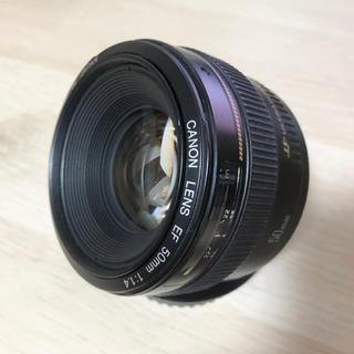 キヤノン(Canon)の美品 キヤノンEF 50mm F1.4 USM 送料無料(レンズ(単焦点))