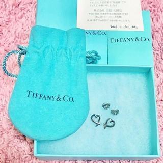 ティファニー(Tiffany & Co.)の未使用 ティファニー ラビングハートピアス(ピアス)