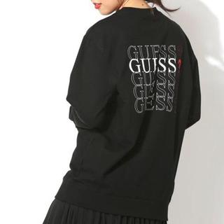 ゲス(GUESS)のguess スウェット トレーナー  ユニセックス 黒 M(トレーナー/スウェット)