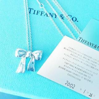 ティファニー(Tiffany & Co.)の未使用 ティファニー リボンネックレス(ネックレス)