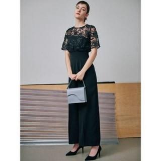 ラグナムーン(LagunaMoon)の2019新作 LADYオーバーレースワイドパンツドレス(オールインワン)