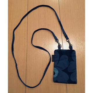 マリメッコ(marimekko)のmarimekko  ミニポシェット ブルー(ショルダーバッグ)