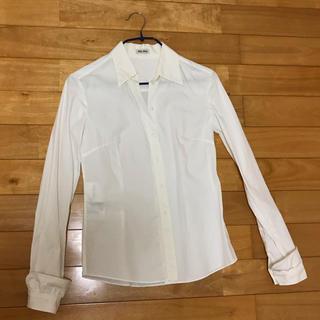 ミュウミュウ(miumiu)のmiumiu 袖フリルシャツ(シャツ/ブラウス(長袖/七分))