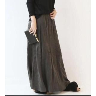 ドゥーズィエムクラス(DEUXIEME CLASSE)の新品 シルクマキシスカート☆ブラウン(ロングスカート)