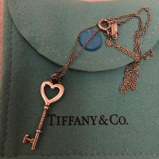 ティファニー(Tiffany & Co.)のティファニー ハートキー ネックレス(ネックレス)