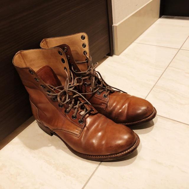 chausser(ショセ)のショセ レースアップブーツ ナチュラルコードバン メンズの靴/シューズ(ブーツ)の商品写真