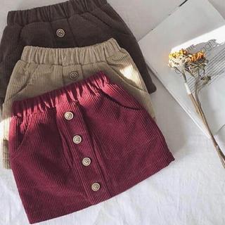 韓国子供服 キッズ コーデュロイスカート(スカート)