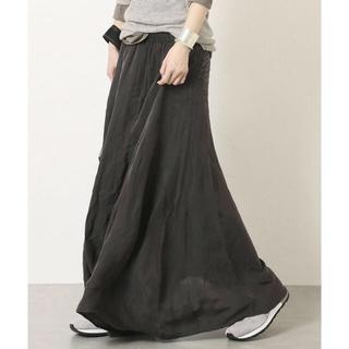 ドゥーズィエムクラス(DEUXIEME CLASSE)の新品 ギャザーマキシスカート☆グレー(ロングスカート)
