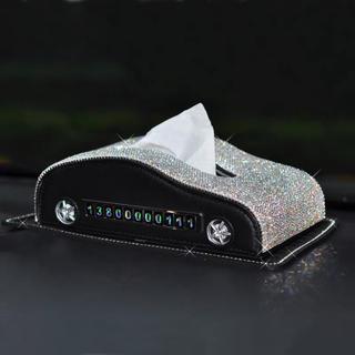ラインストーン飾り 高級感のある 車用ティッシュケース. ティッシュBOXケース(インテリア雑貨)