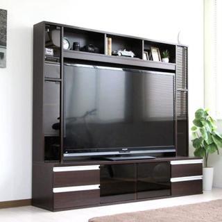 高品質◎ゲート型TV台 180cm幅 壁面家具 60インチ対応 AVボード(リビング収納)