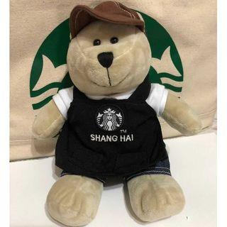 スターバックスコーヒー(Starbucks Coffee)のスタバ 上海ディズニー 限定 ベアリスタ レア 黒 エプロン 熊(ぬいぐるみ)