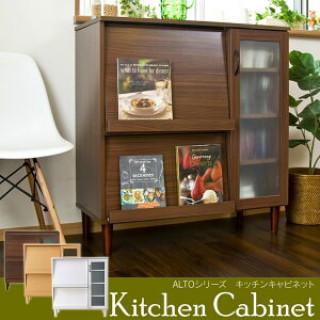 レンジ台 食器棚 キッチンボード カップボード レンジボード ラック 北欧(リビング収納)
