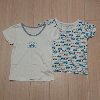 ニシマツヤ(西松屋)の半袖シャツ  2枚組  サイズ90(西松屋)  ※記名あり(下着)