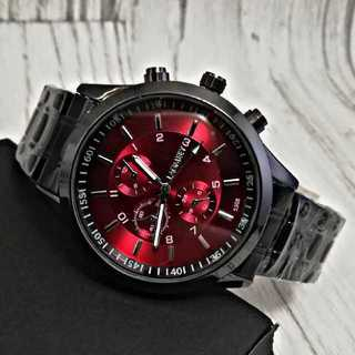 【海外限定モデル】LAGMEEYワインレッド メンズ 腕時計 ウォッチ(腕時計(アナログ))
