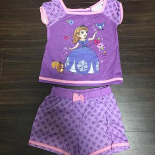 ディズニー(Disney)のディズニー 小さなプリンセス ソフィア 100cm パジャマ 半袖 半ズボン(パジャマ)