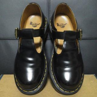 ドクターマーチン(Dr.Martens)のDr.Martens POLLEY UK4 黒 メリージェーン Tストラップ(ローファー/革靴)