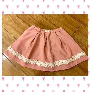 anyFAM - 美品 any FAM お花レースがついたスカート120 女の子