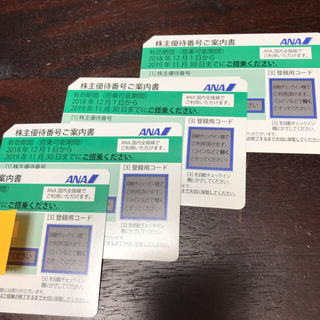 ANA 全日本空輸 株主優待券 新券4枚(航空券)