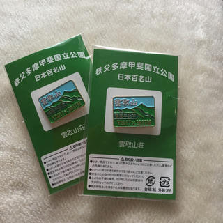 雲取山 ピンバッチ 日本百名山(バッジ/ピンバッジ)