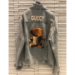 グッチ(Gucci)のgucci /テディベア/デニムジャケット/サイズ52(Gジャン/デニムジャケット)