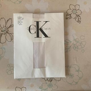 カルバンクライン(Calvin Klein)のCalvin Klein ストッキング ホワイト M~L(タイツ/ストッキング)