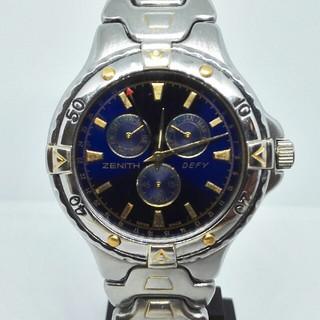 ゼニス(ZENITH)のZENITH ゼニス DEFY トリプルカレンダー 腕時計 デファイ 赤針デイト(腕時計(アナログ))