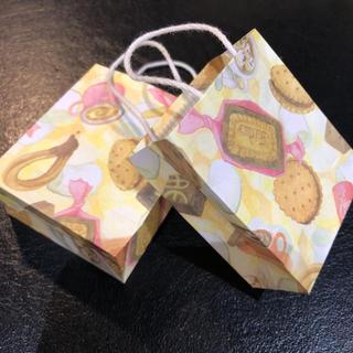 アフタヌーンティー  クッキー&カフェ ミニ紙袋   2種類 20枚入り(カード/レター/ラッピング)