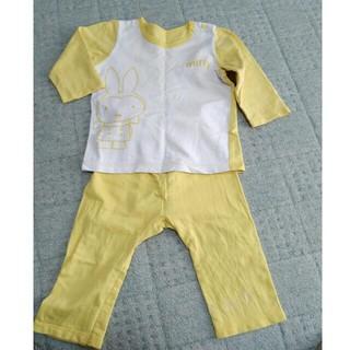 ミッフィー 長袖パジャマ 90サイズ 黄色(パジャマ)