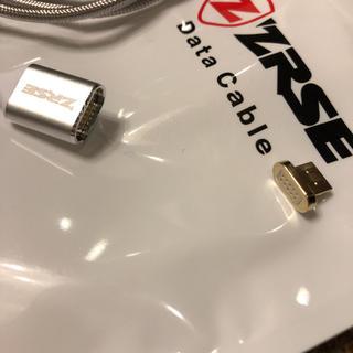 マグネット 充電コード アンドロイド シルバー 1m(Androidケース)