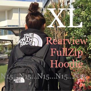 ザノースフェイス(THE NORTH FACE)の【XL】ノースフェイス リアビューフルジップフーディ ブラック NT11930(パーカー)